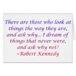 Cita de Roberto Kennedy Tarjeta De Felicitación