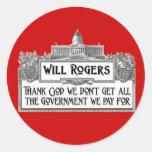 Cita de Rogers en eficacia del gobierno Pegatina Redonda