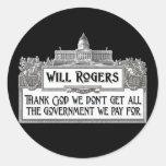Cita de Rogers en eficacia del gobierno Pegatinas Redondas