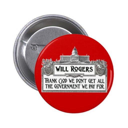 Cita de Rogers en eficacia del gobierno Pins