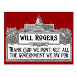 Cita de Rogers en eficacia del gobierno Postal