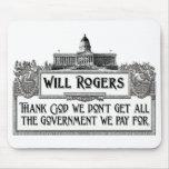 Cita de Rogers en eficacia del gobierno Tapetes De Raton
