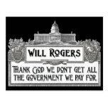 Cita de Rogers en eficacia del gobierno Tarjetas Postales
