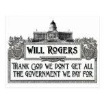 Cita de Rogers en eficacia del gobierno Tarjeta Postal