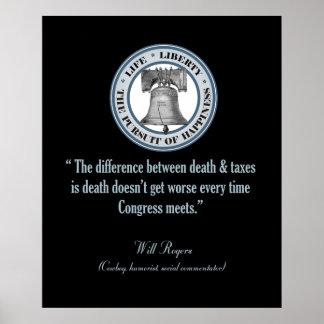 Cita de Rogers (muerte y los impuestos) Impresiones