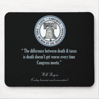 Cita de Rogers (muerte y los impuestos) Tapete De Ratón