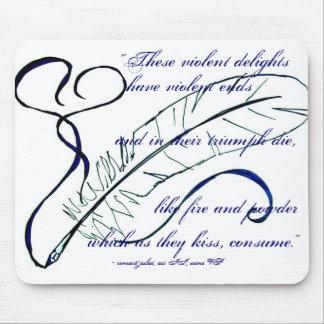 Cita de Romeo y de Juliet Mouse Pads