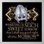 Cita de Romeo y de Juliet (versión del oro) Posters