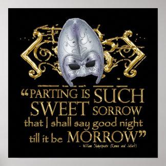 Cita de Romeo y de Juliet versión del oro Posters