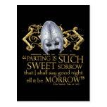 Cita de Romeo y de Juliet (versión del oro) Tarjetas Postales