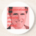 Cita de Romney - las sociedades son gente, mi amig Posavasos Para Bebidas