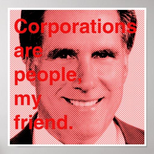 Cita de Romney - las sociedades son gente, mi amig Póster
