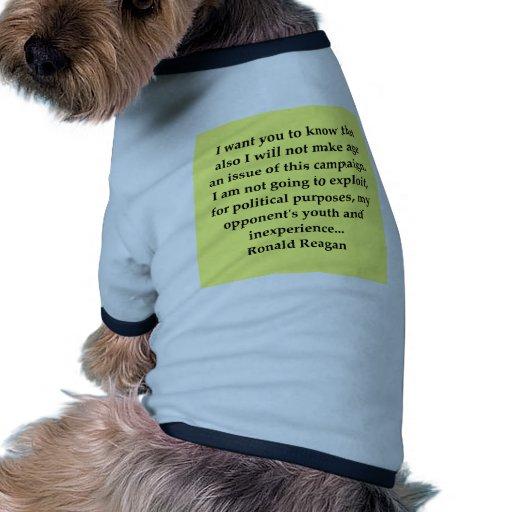 cita de Ronald Reagan Camiseta Con Mangas Para Perro