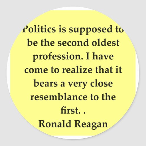 cita de Ronald Reagan Pegatina Redonda