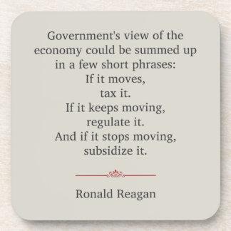 Cita de Ronald Reagan Posavasos De Bebidas
