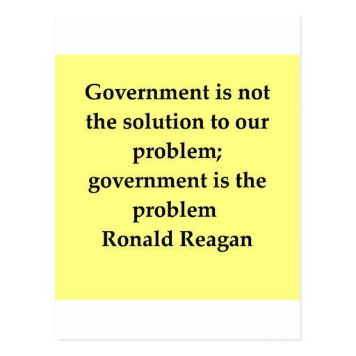 cita de Ronald Reagan Tarjeta Postal