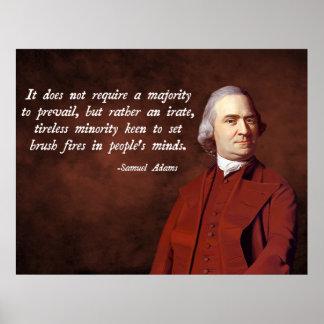 Cita de Samuel Adams Posters