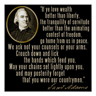 Cita de Samuel Adams Poster