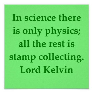 Cita de señor Kelvin Póster