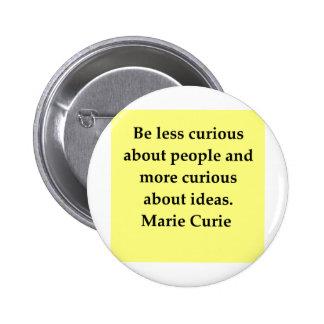 Cita de señora Curie Pins