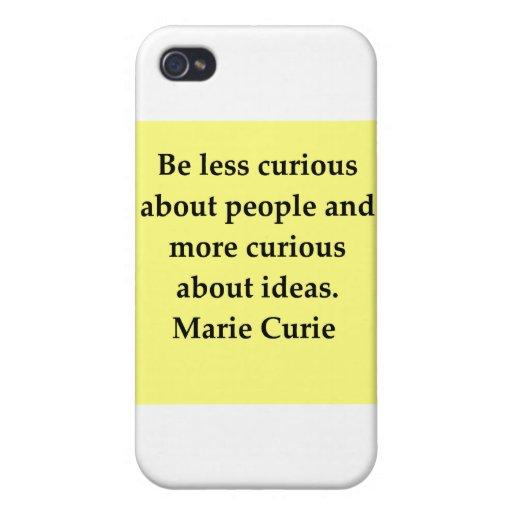 Cita de señora Curie iPhone 4 Funda
