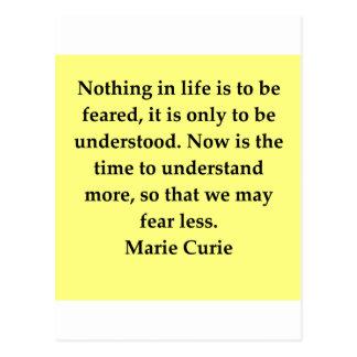 Cita de señora Curie Postal