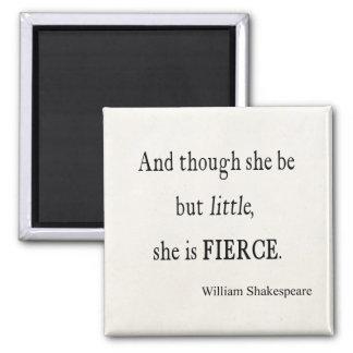 Cita de Shakespeare ella sea citas pequeñas pero f Imán De Frigorífico