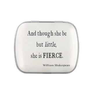 Cita de Shakespeare ella sea citas pequeñas pero Jarrones De Caramelos