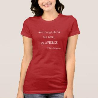 Cita de Shakespeare ella sea citas pequeñas pero T-shirts