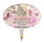 Cita de Shakespeare sobre ALEGRÍA y SILENCIO Figura De Tarta