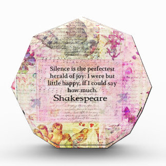 Cita de Shakespeare sobre ALEGRÍA y SILENCIO