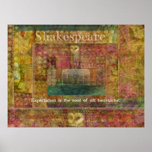 Cita de Shakespeare sobre expectativas Posters