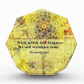 Cita de Shakespeare sobre felicidad y risa