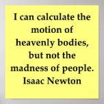 cita de sir Isaac Newton Impresiones