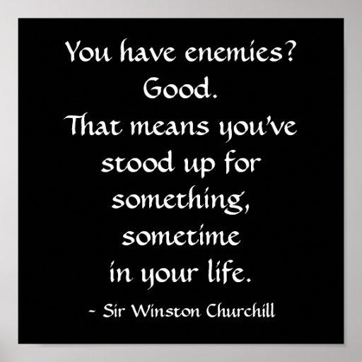 Cita de sir Winston Churchill Poster