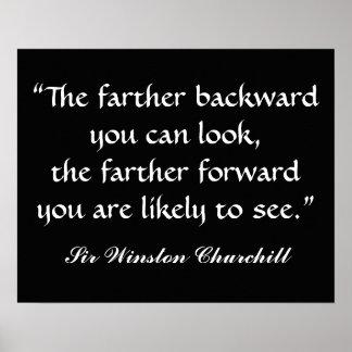 Cita de sir Winston Churchill por SRF Póster