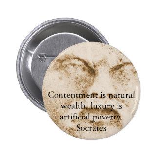 Cita de Sócrates sobre minimalism y materialismo Pins