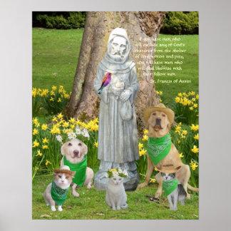 Cita de St Francis Póster