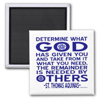 Cita de St Thomas Aquinas Imán Cuadrado