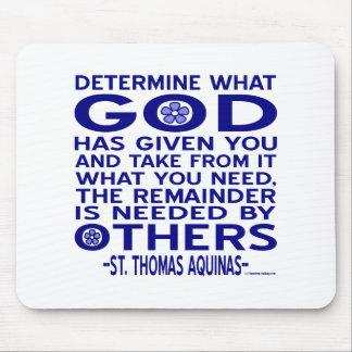 Cita de St Thomas Aquinas Alfombrilla De Raton