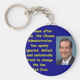 Cita de Ted Cruz Llavero Redondo Tipo Chapa
