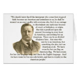 Cita de Teddy Roosevelt Felicitaciones