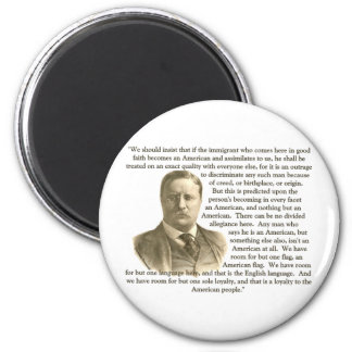 Cita de Teddy Roosevelt Imanes Para Frigoríficos