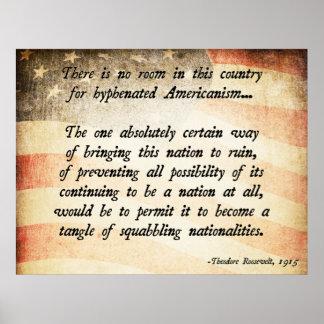 Cita de Teddy Roosevelt Impresiones