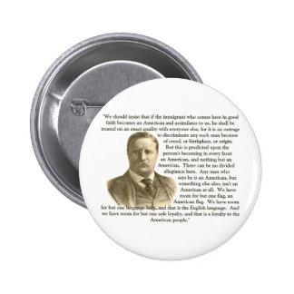 Cita de Teddy Roosevelt Pin