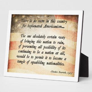 Cita de Teddy Roosevelt Placas De Madera