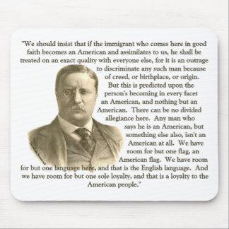Cita de Teddy Roosevelt Alfombrillas De Ratón