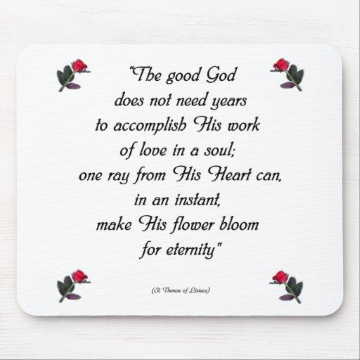Cita de Teresa del santo Tapetes De Ratón