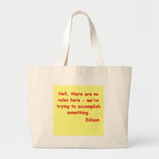 Cita de Thomas Edison Bolsas De Mano