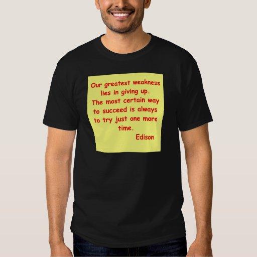 Cita de Thomas Edison Camisas